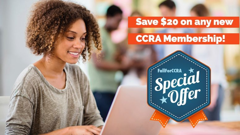 Fall For CCRA - Save $20 on any NEW agent membership!